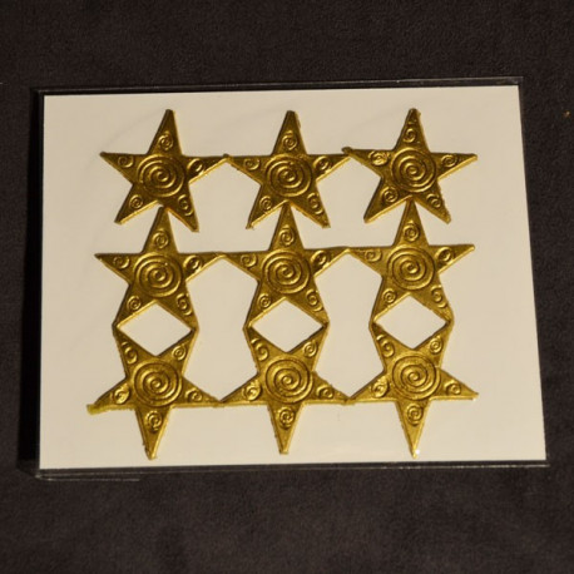 Décoration pour bougies en cire - étoiles Or ou Argent