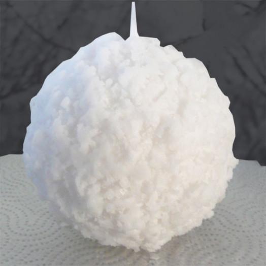 Réaliser une bougie boule de neige