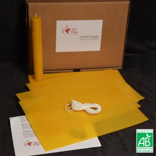 Kit pour Fabriquer des Bougies en Cire gaufrée Bio