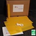 Kit pour Fabriquer des Bougies en Cire gaufrée Bio 0