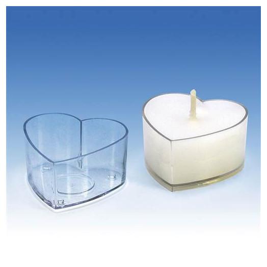 Moule Coeur pour bougies chauffe-plat
