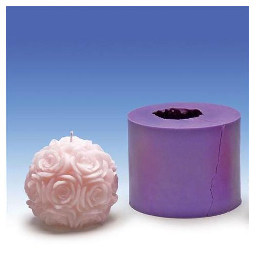 Moule Boule Rose silicone - 9 cm