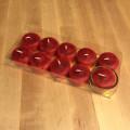 Bougies Chauffe-plats Cire d'Abeilles rouge 0