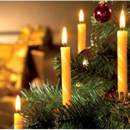 Bougies Traditionnelles de Noël en Cire abeille