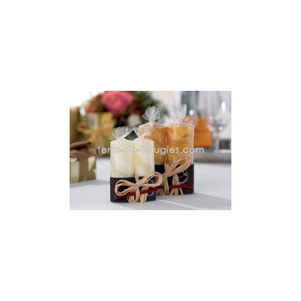 bougie duo en cire d 39 abeille terre de bougies. Black Bedroom Furniture Sets. Home Design Ideas
