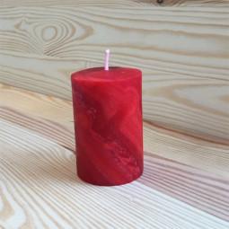 Bougie Votive Rouge Cylindrique en cire d'abeille