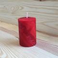 Bougie Votive Rouge Cylindrique en cire d'abeille 0