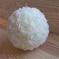 Bougie boule multi-roses diamètre 15 cm 0