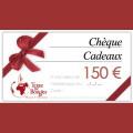 Chèque cadeau d'une valeur de 150 € 0