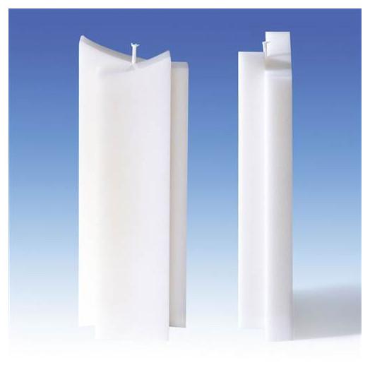 Moule pour bougies - à 2 pointes 82 x 40 x 220 mm