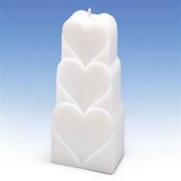 Moule pour bougies motifs coeurs
