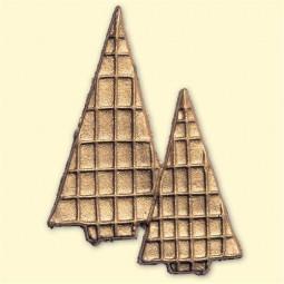Décoration pour bougies - Sapins dorés