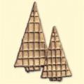 Décoration pour bougies - Sapins dorés 0