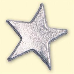 Décoration pour bougies - Grandes étoiles argentées