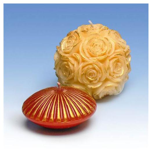 Décoration pour bougies - Pâte d'ornement Or