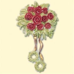 Décoration pour bougies en cire - Roses rouges