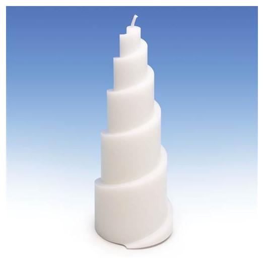 Moule pour bougies - Pyramide en Spirale