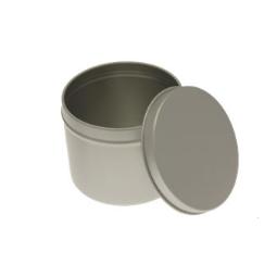 Grande boîte ronde en métal avec couvercle