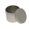 Grande boîte ronde en métal avec couvercle 0