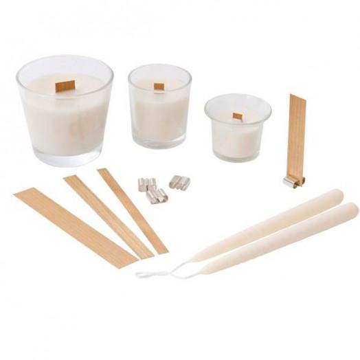 Meche en bois pour bougies