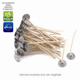 Mèches cirées végétales - Ø max 90 mm