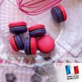 Parfum pour bougies - Macaron framboise et violette 0