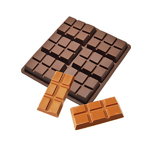 Moule pour fondants tablette de chocolat en silicone