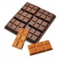 Moule pour fondants tablette de chocolat en silicone 0