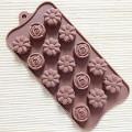 Moule en silicone pour fondants : Fleurs 0