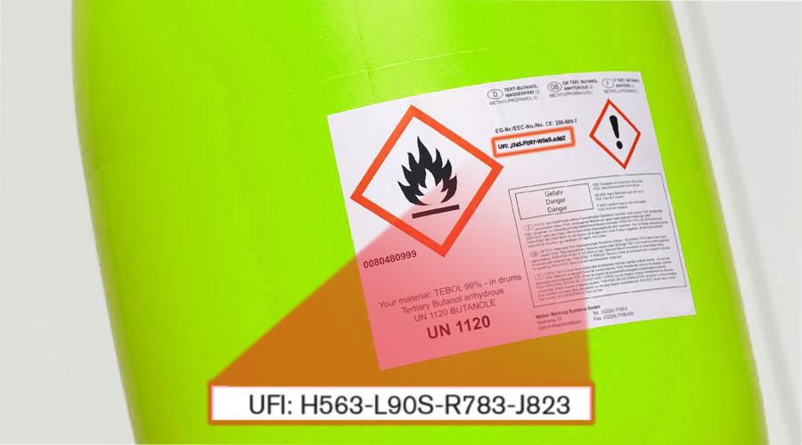 UFI Etiquetage bougie